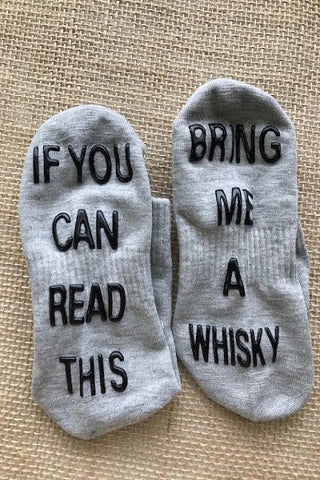 "Cozy Crew Socks ""Bring Me A Whisky"" ((NEW))"