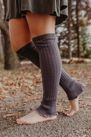 Cable Knit Legwarmers with Flare