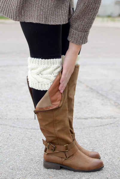 Cream Cable Knit Sweater Boot Cuffs Bootcuffsocks Com