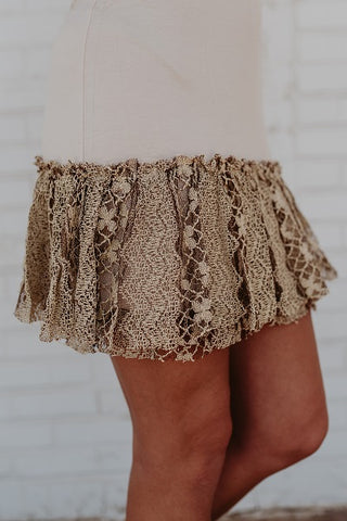 Cream Layered Lace Dress Extender - SALE