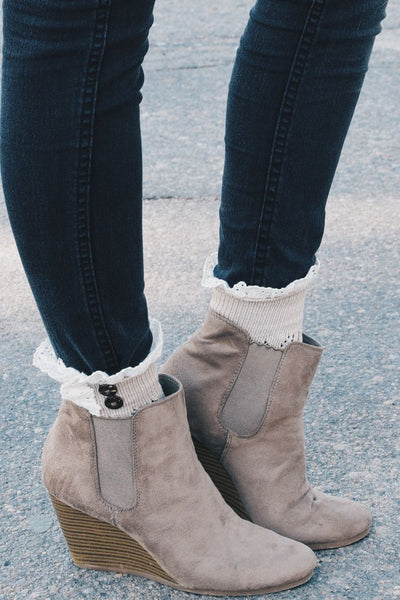 Beige Boot Cuffs With Buttons Bootcuffsocks Com