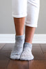 Grey Pointelle Ankle Socks
