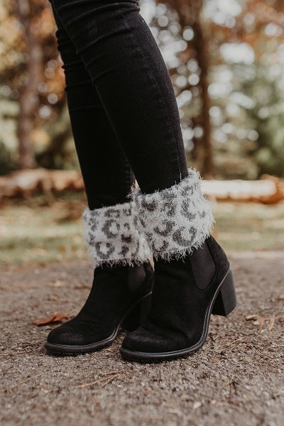 Reversible Animal Print Boot Toppers Shoe Accessories