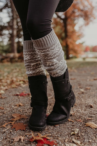 Winter Snowflake Knee High Leg Warmers ((NEW))
