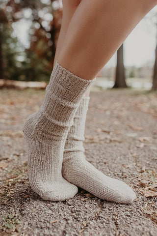 Harvest Beige Peppered Boot Sock