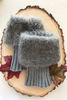 Boot Cuffs with Silky Feather (Mohair-like) Topper