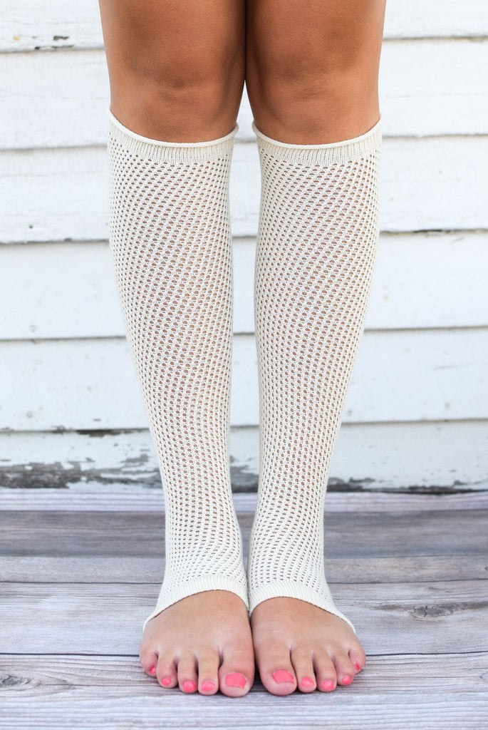 Ivory Textured Leg Warmers