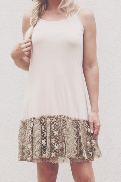 Cream Layered Lace Dress Extender  ((NEW))