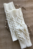 Ivory Diamond Pattern Thick Legwarmers  ((NEW))