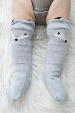 Kids Grey Fox Socks