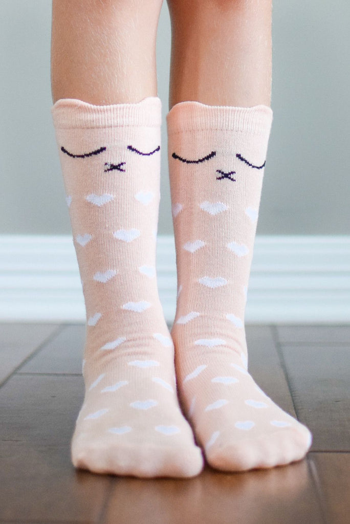 Kids Purrfectly Pink Kitty Socks