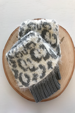 Boot Cuffs with Silky Leopard Print Topper  ((NEW))
