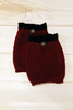 Crocheted Merlot Boot Cuff with Black Top