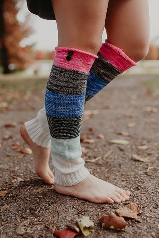Multi-colored Leg Warmers