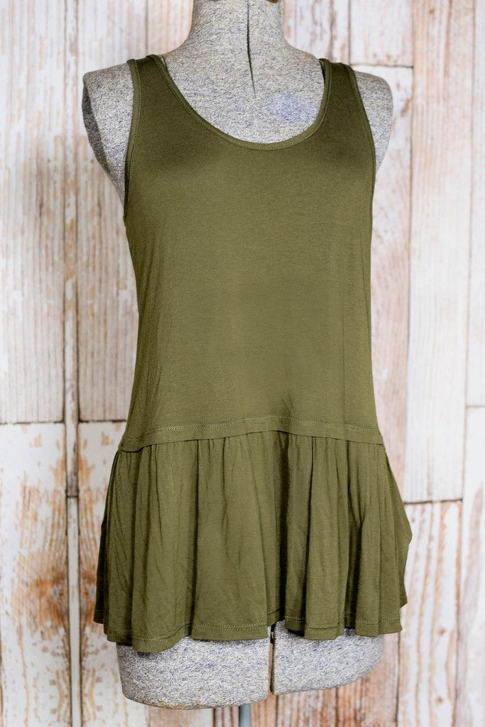 Olive Jersey Top Extender