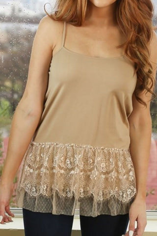 Almond Tiered Lace Top Extender
