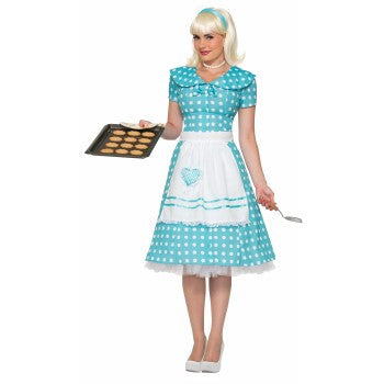 50's Housewife Costume Turquoise
