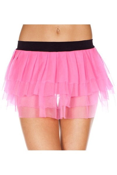 Layered Pink Tulle Mini Skirt