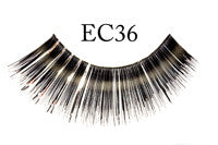 Eyelash #EC36 Black w/ Silver Edge