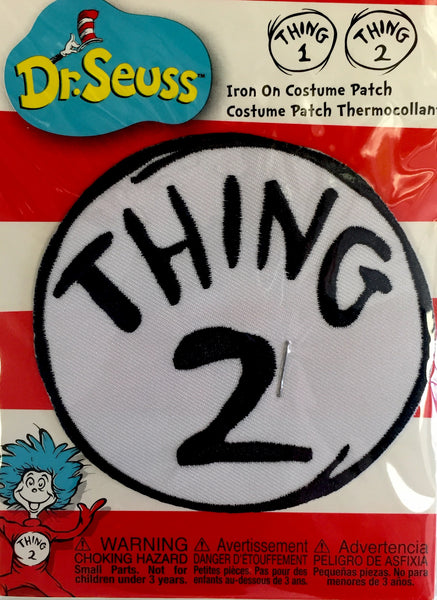 Thing 2 Iron-on Patch