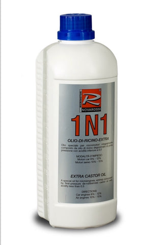 NV-1N1- Extra Castor Oil for Fuel Blends, 1 Lt. Bottle