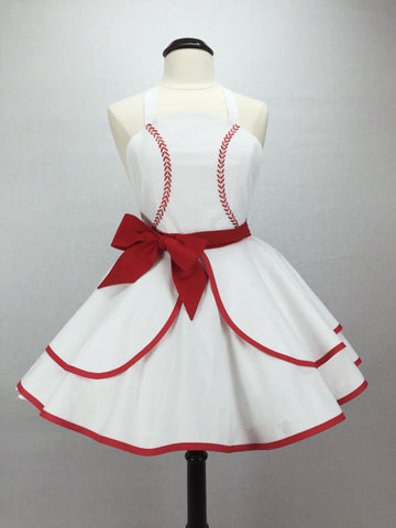 Baseball Inspired Pin-up Apron - IN STOCK