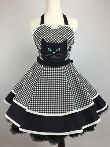 Black Cat Crossing Apron - IN STOCK