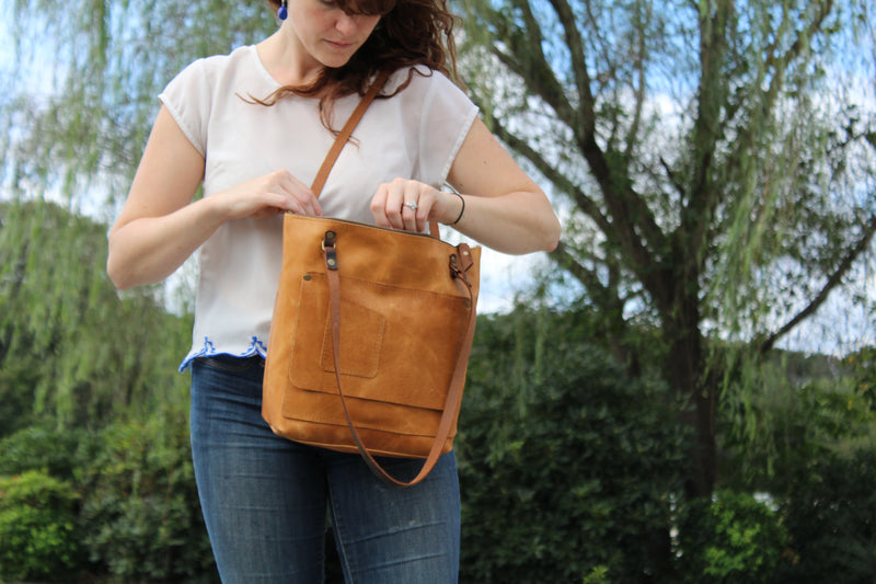 Classic Brooklyn Tote (Includes Fabric Lining)