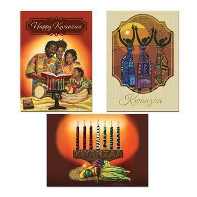Happy Holidays KWANZAA CARDS, CANDLES AND GIFT WRAP