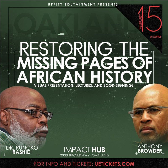 Restoring the Missing Pages of African History Lecture, Books and Egypt Tour 2020
