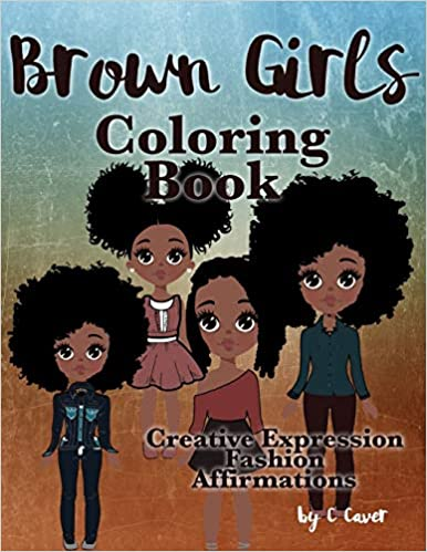 Brown Girls Coloring Book  AshayByTheBay.com