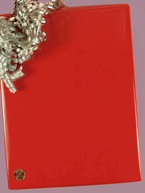Gift Wrap #3 Solid Red