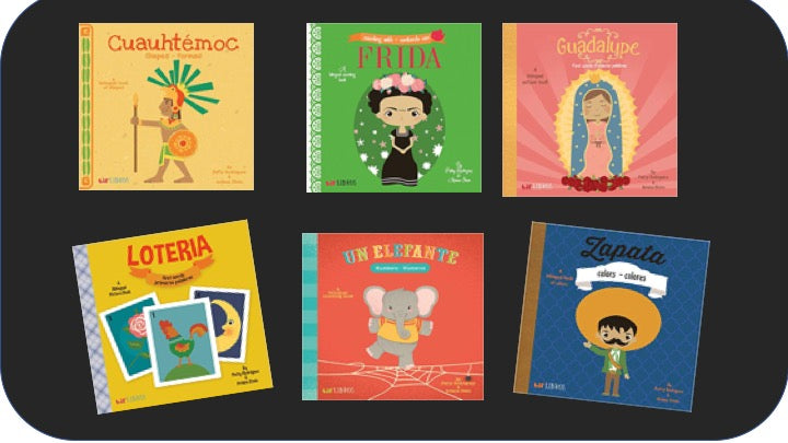 Spanish Bi-Lingual Baby Board Book Collection at Ashay By The Bay