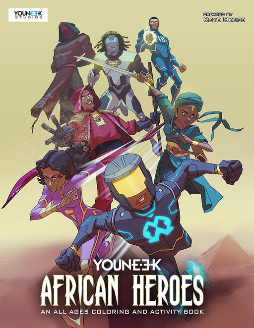 African Heroes - An All Ages Coloring and Activity Book by YouNeek. at AshayByTheBay.com