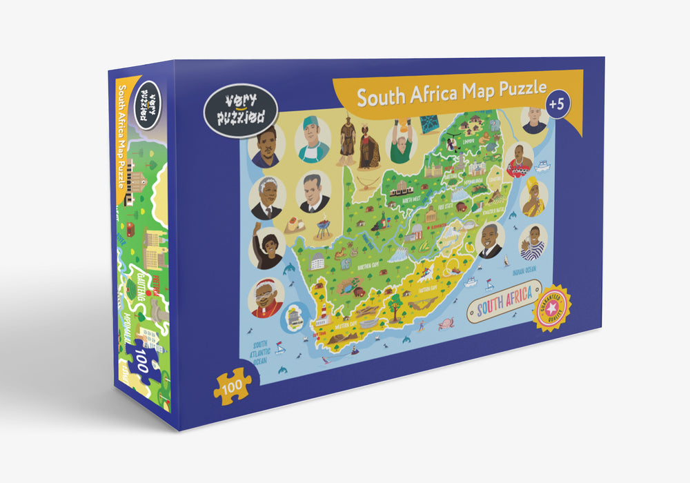 South Africa Map Giant Jigsaw Puzzle