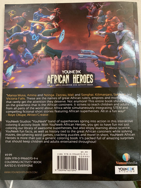 African Heroes - An All Ages Coloring and Activity Book by YouNeek