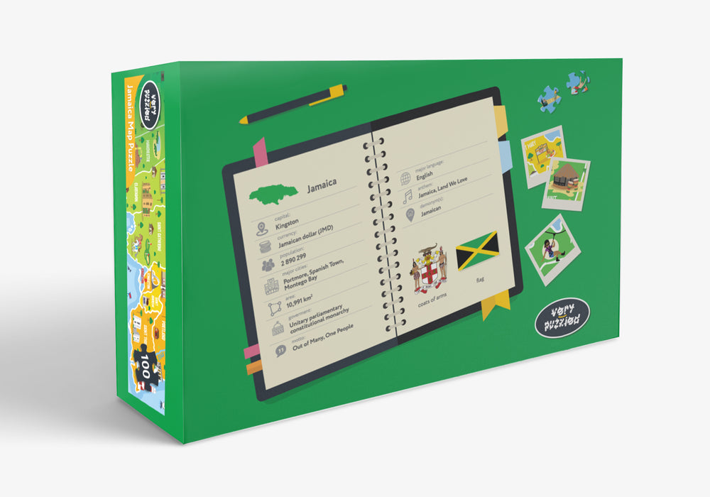 Jamaica Map Giant Jigsaw Puzzle with FREE Map