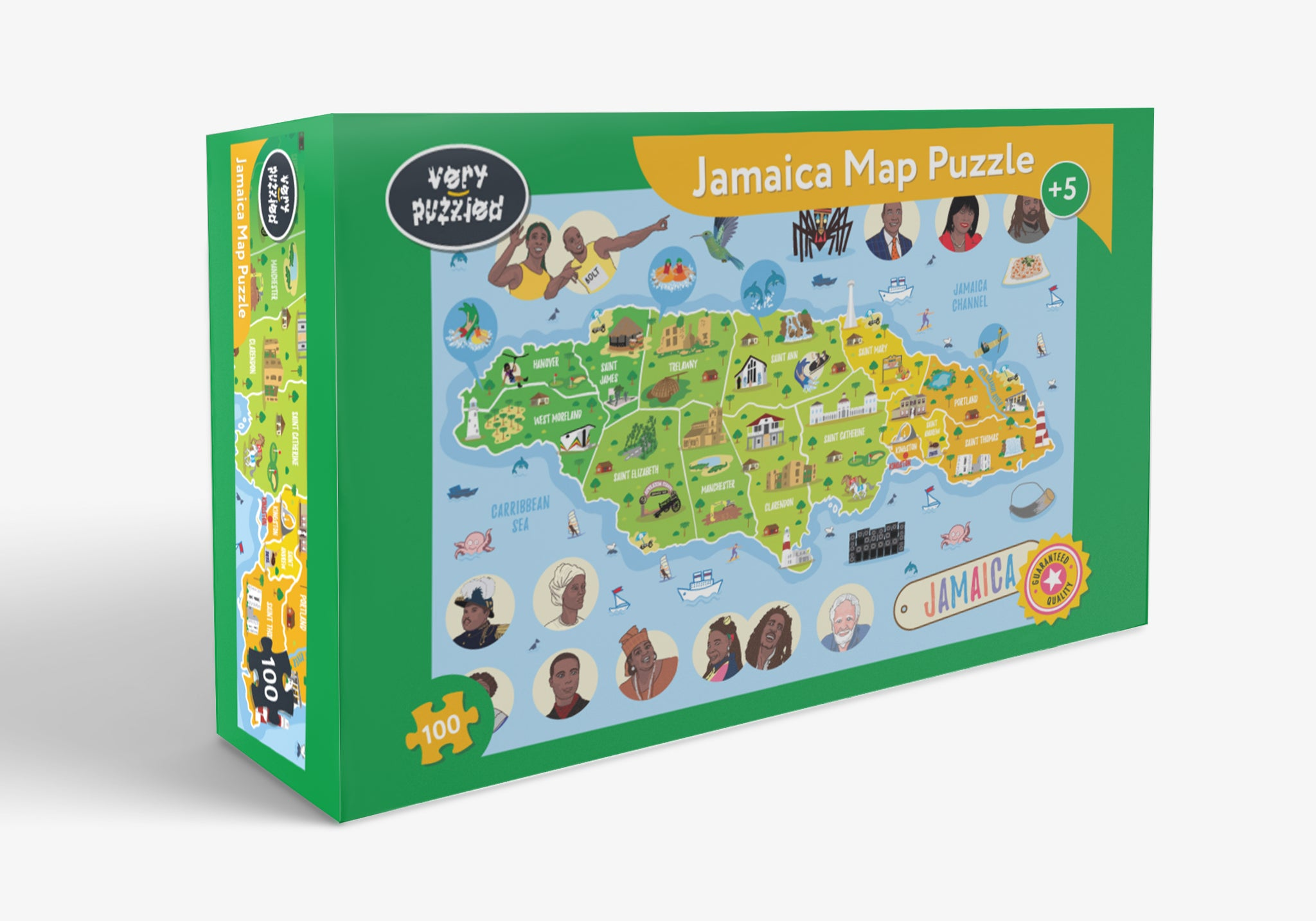 Jamaica Map Giant Jigsaw Puzzle