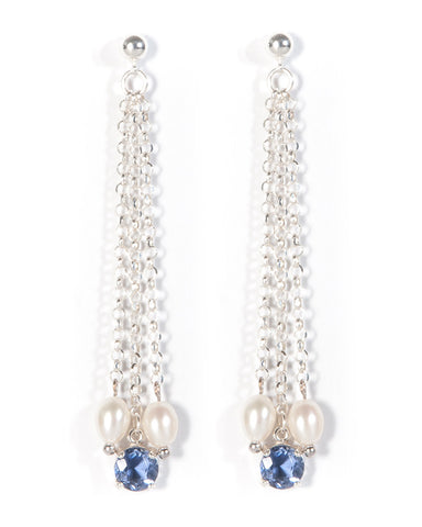 Iolite Silver Strand Earrings