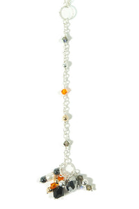 RAJ  Sterling silver necklace with gemstones and Swarovski crystals