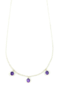 MAHARAJA Amethyst silver necklace