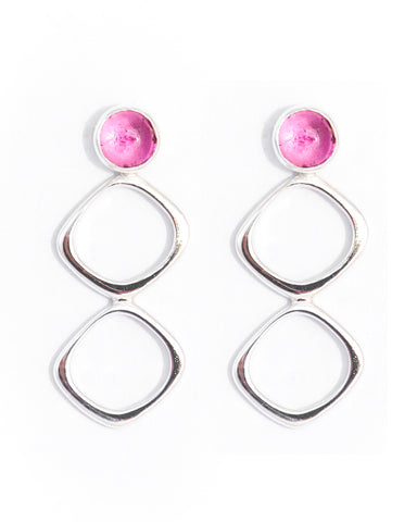 EDIE - Pink Tourmaline Drop Earrings