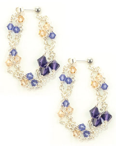 MAJORELLE Sterling Silver Waterfall Earrings with Swarovski Crystals
