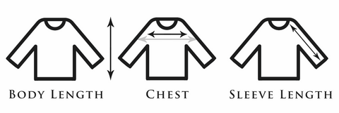 Long Sleeve Shirts Clothing Measurements - Bayview Prep® Coastal Clothing