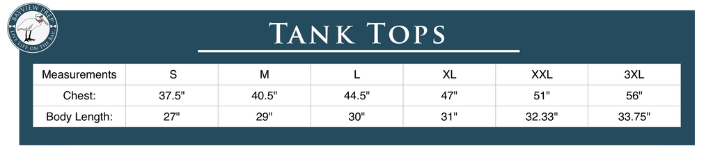 Tank Top Sizing Guide - Bayview Prep®