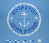Anchor Shirt in Beach Blue - Bayview Prep