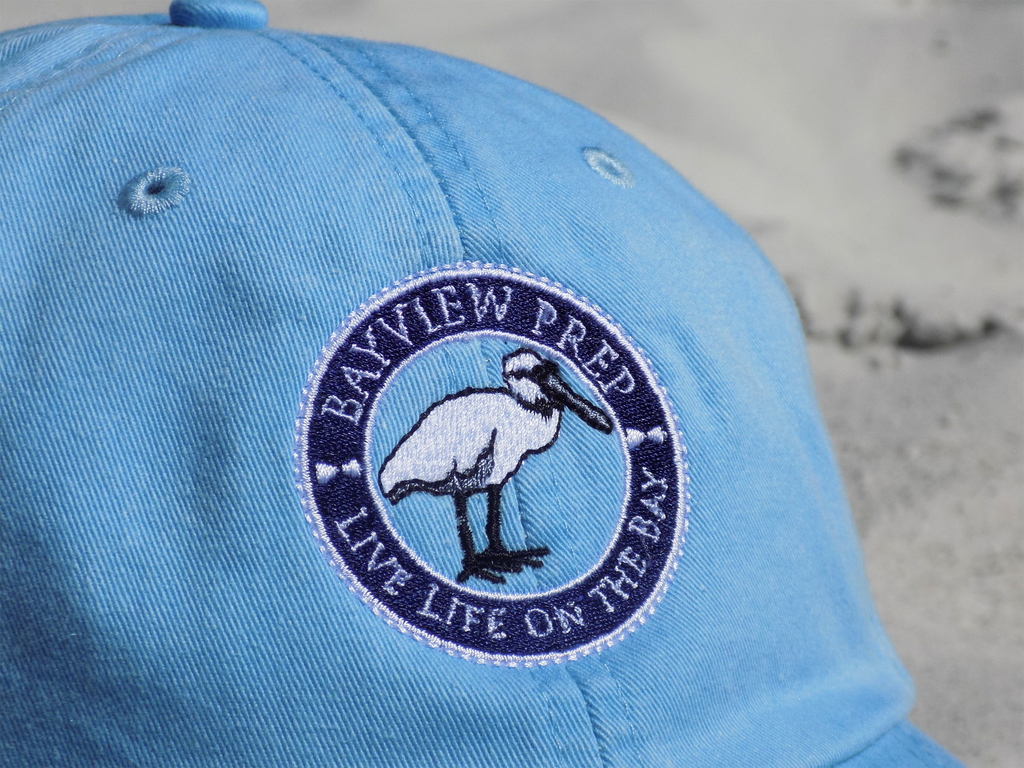 Blue Hat - Embroidered Logo Close-Up