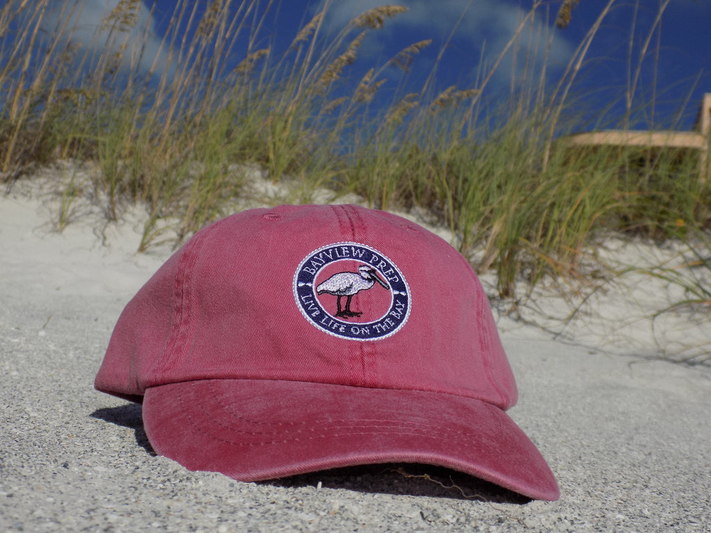 Hat - Washed Crimson - Bayview Prep