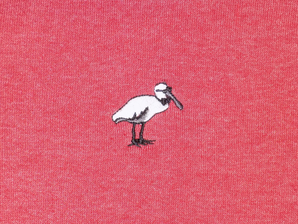 Crimson Pullover - Embroidered Spoonbill Logo
