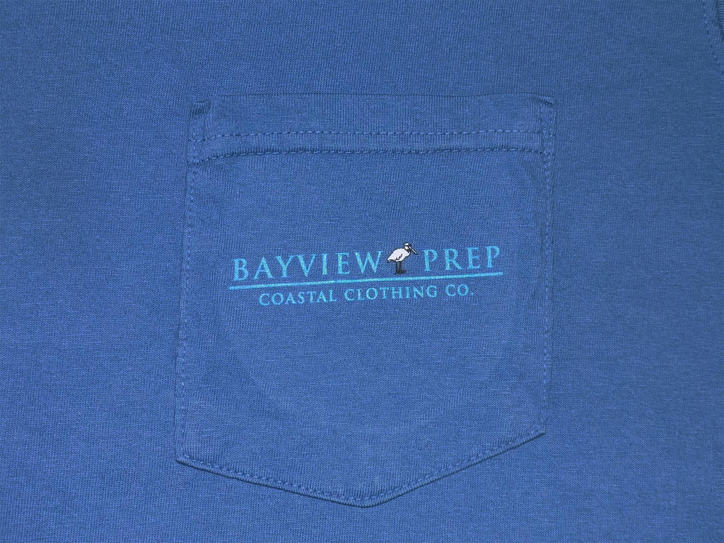 Bayview Signal Flags in Washed Navy - Bayview Prep